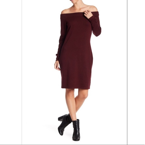 c5cda976d7b NWT Vince Camuto Off Shoulder Sweater Dress